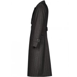 Black and Coffee 'Mad Hatter' Striped Coat