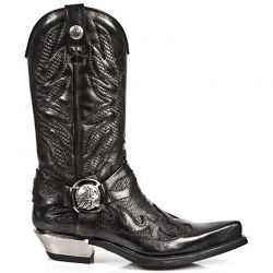 Black Nomada and Python Leather New Rock West Boots