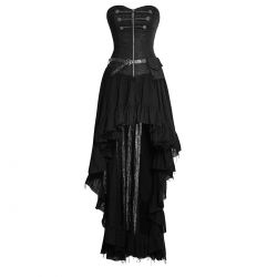 Robe Steampunk 'Dryad' Black