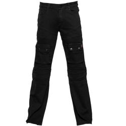 Black 'Used Look' Pants