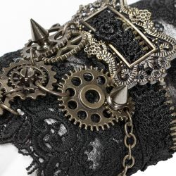 Black Lace 'Gears and Spikes' Steampunk Gloves