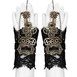 Gants Steampunk 'Gears and Spikes' en Dentelle