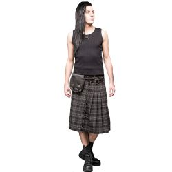 Grey Chequered Thick Kilt
