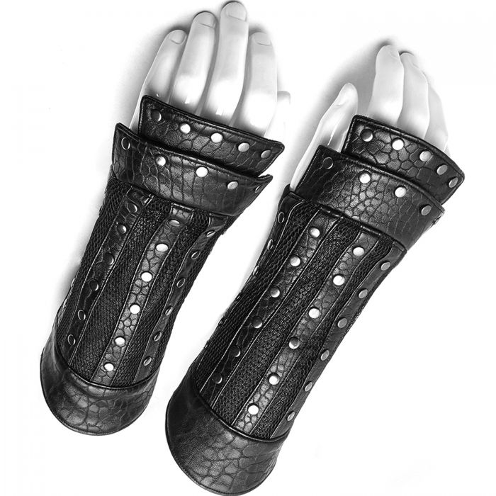 Black Men's Gothic 'Nostromo' Gloves