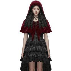 Cape Boléro Gothic Lolita à Capuche 'Red Fairy'