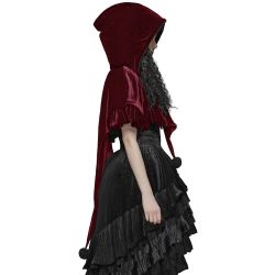 Gothic Lolita 'Black Fairy' Hooded Bolero Cape