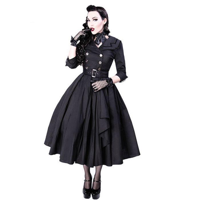 Black Pin-Up 'Dita' Dress