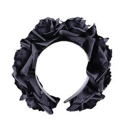 'Black Roses' Headband