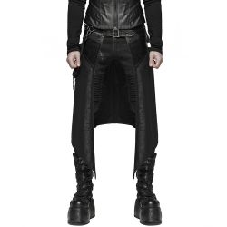 Black 'Assassin's Creed' Male's Mid-Skirt Kilt